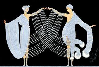 Le Mystere Des Pierreries Big Art Deco Print Erte
