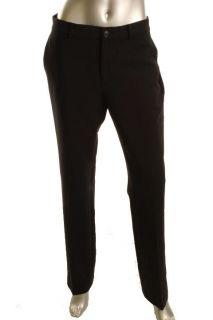 Ralph Lauren New Camaron Black Slim Stretch Straight Leg Trouser Pants