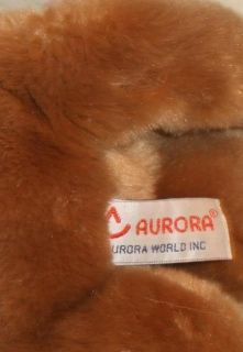 Aurora Plush Bean Bag 11 Long Brown White Nose Mountain Lion Cougar