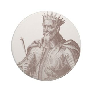 Attila the Hun   Antique Print   Atilla Coasters