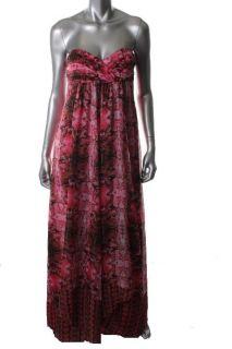 Laundry by Shelli Segal New Pink Chiffon Cobra Printed Cocktail Dress