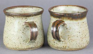 Pair David Leach Lowerdown Studio Pottery Foxglove Pattern Coffee Mugs