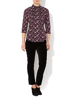 Dickins & Jones Ladies Ditsy Floral Printed Shirt Purple