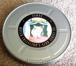 Le Disney Dumbo The Elephant Animated Watch Timothy Pin Film Reel Tin