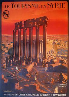 Beirut Lebanon Camel Arab Arabic Tourism Travel Vintage Poster Repo
