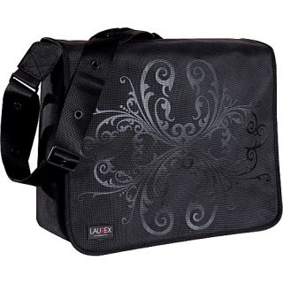 Laurex 15 6 Laptop Messenger Bag Black Bloom