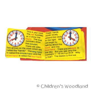 Learn to Tell Time Cloth Soft Toy Kids Kindergarten