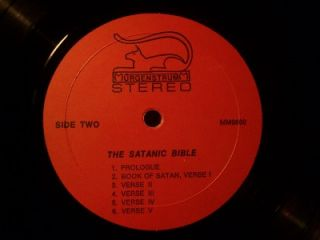MASS LP~LIVE AT THE CHURCH OF SATAN~ANTON LAVEY~BAPHOMET~BIBLE~RITUALS
