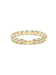 Aurora Swarovski 18ct Yellow Gold Tennis Bracelet