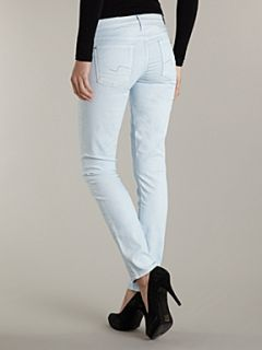 7 For All Mankind The light drill skinny leg jeans Sky Blue