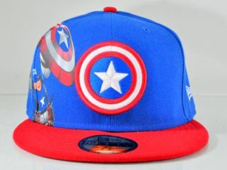 Captain America New Era Materialize Blue 59Fifty Fitted Cap