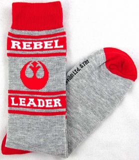 Star Wars Rebel Leader Logo Mens Crew Socks Size 10 13