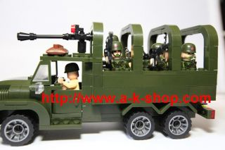 Military Base Set Army Truck Soldier Figure Sniper Gun Compatible Lego