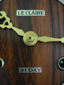 Leclaire 31 Day Wall Clock with Pendulum and Key