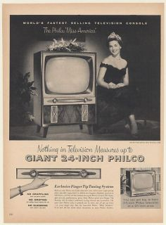 1954 Lee Ann Meriwether Philco Miss America Console TV Television