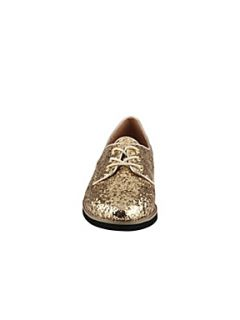 Aldo Solorzano Glitter Lace Up Shoes Gold