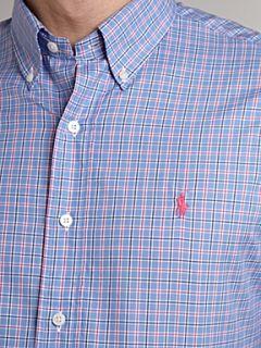 Polo Ralph Lauren Golf Long sleeved checked shirt Blue