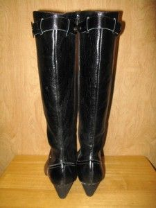 New $225 Shane and Shawn Womens Leatrice Tall Leather Boots 8 5 39