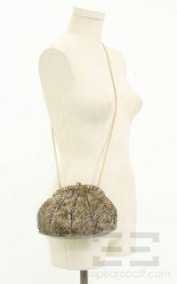 Judith Leiber Vintage Brown and Black Snakeskin Clutch Handbag
