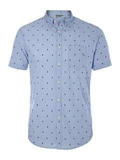 Linea Gibson jaqcuard short sleeved shirt Blue   House of Fraser