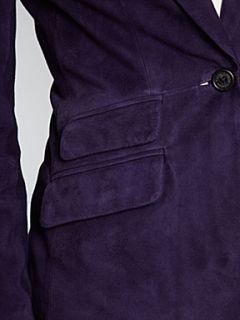 Lauren by Ralph Lauren Valerine suede jacket Dark Purple   House of