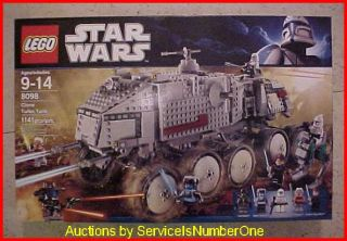 Lego Star Wars Clone Turbo Tank 8098 New SEALED 1114 Pieces Huge