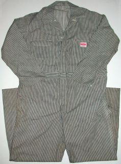 50s Montgomery Ward Coveralls XXL Denim Powr House Hickory Lee
