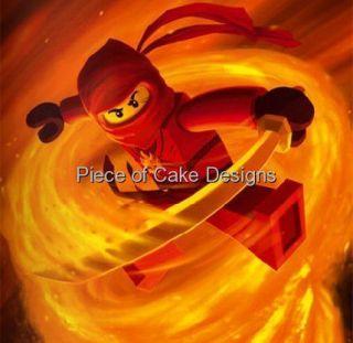 Lego Ninjago Red Ninja Kai Edible Image Icing Cake Cupcaketopper