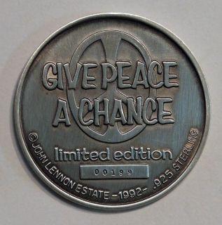Beatles John Lennon 925 Silver RARE Medal Edition Low Serial 199 10