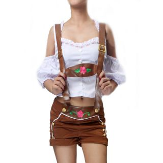 German Beer Girl Womens Suspender Shirt Costume ml Size