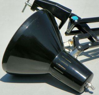 Black Ledu Lamp of Norwalk Folding Desk Scissor Adjustable Arm