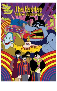 3D Picture Shadow Box Beattles Yellow Submarine 3D Lenticular Montage