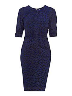 Whistles Bella cheetah print dress Blue