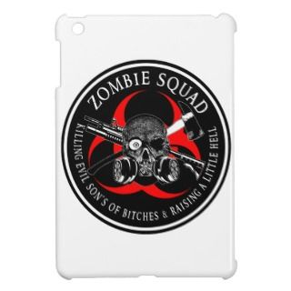 Biohazard Zombie Squad 3 Ring Patch outlined iPad Mini Cases