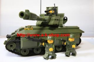 War Military Tank Brick Toy Soldier Figure Gun Compatible Lego