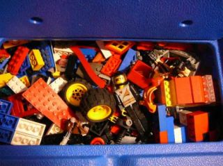 Huge Lot Lego Mixed Pieces in Lego Plastic Box Over 300 Pieces