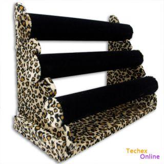 Tier Leopard Jewelry Bar Bracelet Watch Display Stand Velvet New