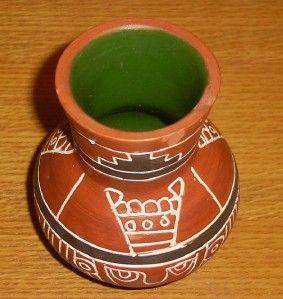 Signed Leopoldo de Mexico Native Indian Vase Pottery Latin America