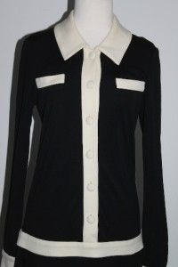 Diane Von Furstenberg Leno Black Shirt Long Sleeve Black Wool Dress