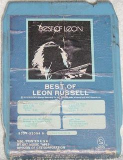 Leon Russell Vintage 8 Track Tape Stereo Music Song Cartridge Cassette