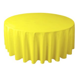 108 in Round Polyester Tablecloth for Wedding Reception or Kitchen
