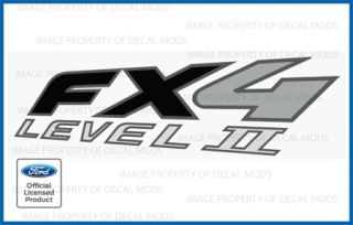 03 09 Ford Ranger FX4 Level II 2 Decals FB Truck Stickers Bed Side Set