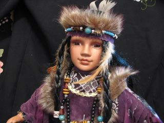 Porcelain Native American Indian Princess Leslie
