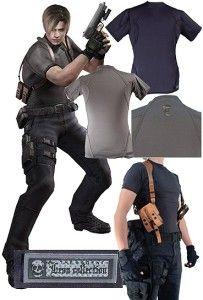 Resident Evil Agent T Shirt Leon Model Black Tight Fit