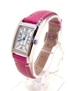Womens Pink Leather Stainless Steel Lexington Watch 14501076 NEW NWT
