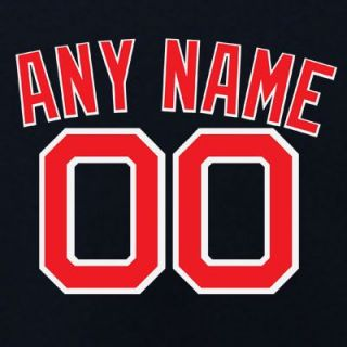 Boston Red Sox Authentic Alternate Navy Jersey Lettering Kit Any Name