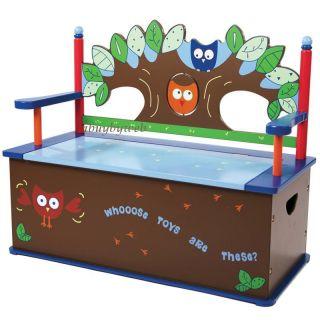 Levels Of Discovery LOD20061 Owls Bench Seat w/ Storage Kids Toy Box