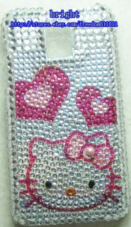 New Hello Kitty Bling Case Cover for LG Optimus 2X G2X P990 2