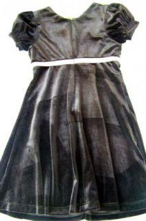 Jona Michelle Girl Sz 5 Dress Brown Pink Velour