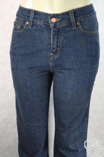 Levis 512 Slimming Boot Cut Jeans Petites Shadow Blue Denim Womens